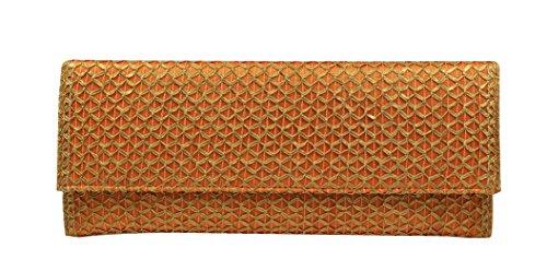 Bolso Clutch Crochet Naranja