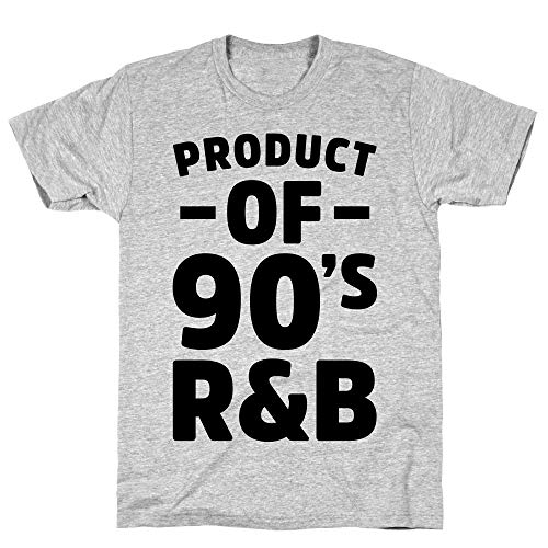 LookHUMAN Product of 90's R&B Medium Athletic Gray Men's Cotton Tee]()