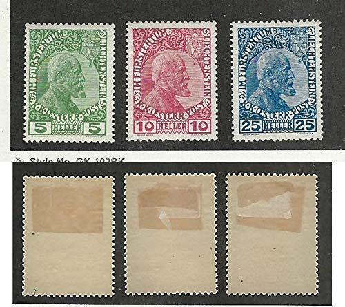 Liechtenstein, Postage Stamp, 1-3 Mint Hinged, 1912, JFZ ()