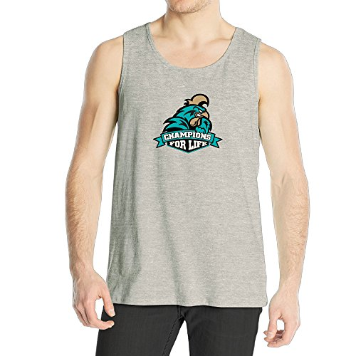 Carolina Mens Sleeveless (Coastal Carolina 2016 Champions For Life Men's Cotton Tank)