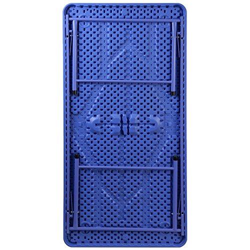 30''W x 60''L Kid's Blue Plastic Activity Preschool Folding Table