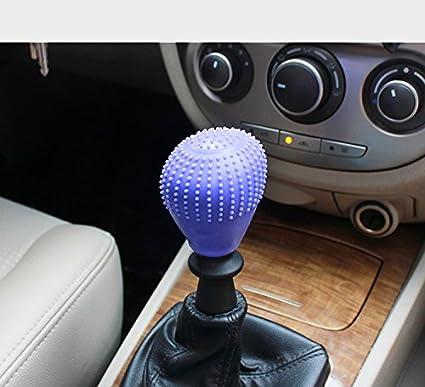Car Shift Knob Cover Car Vehicle Round Soft Silicone Anti-slip Lever Gear Shift Knob Cover Fashion Color Shift Knob Boots Purple