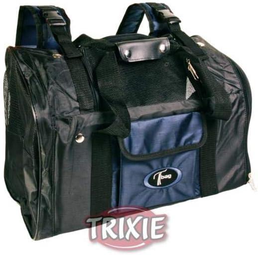 Trixie 2882 Connor - Mochila Transportin Perro Pequeño, Cesta Para Perros Accesorios, Negro, 42 × 29 × 21 cm