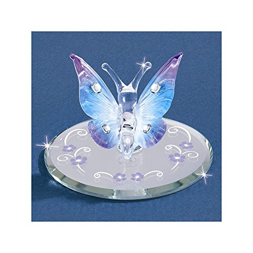 Goldia Glass Baron Butterfly, Blue with Crystals