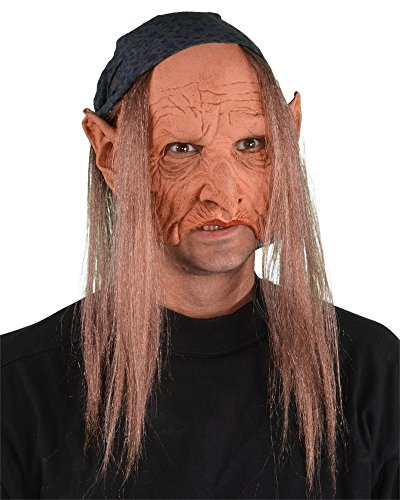 Zagone Crone-Gypsy Mask, Old Hag, Witch, Bag Lady, -