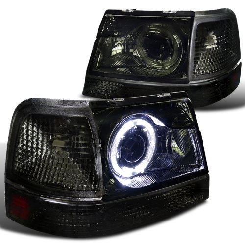 Ford Ranger Smoke Halo Projector Headlights+Tint Corner Signal Lamps