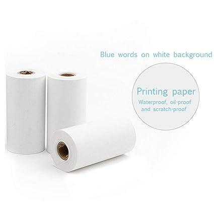 MOGOI 3 rollos de papel térmico, mini impresora de bolsillo ...