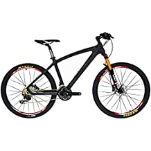 BEIOU Carbon Fiber Mountain Bike Hardtail MTB 10.65 kg Shimano M610 DEORE 30 Speed Ultralight Frame RT 26-Inch Professional Internal Cable Routing Toray T800 Carbon Hubs Matte