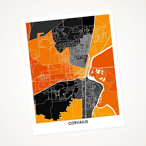 Amazon Com Corvallis Oregon Map Print Choose Your Colors And Size