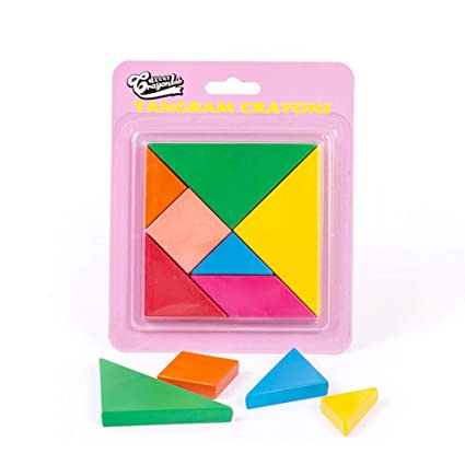 Adeeing Kids Nontoxic Painting Crayon Set Tangram Puzzle Toy for Art Supplies