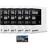 Impossible Color Film for Polaroid 600-Type Cameras - 5 Pack