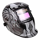 Lantusi Auto-darkening Welding Helmet with Personalized Pattern Professional Protected Solar Power Arc