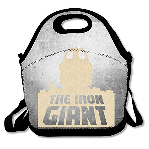 Bakeiy The Iron Giant Lunch Tote Bag Lunch Box Neoprene Tote For Kids And Adults For Travel And Picnic School (Wall E Costume For Adults)