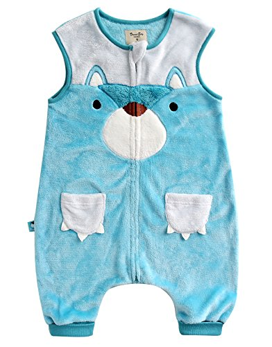 Vaenait Baby 1-7Y Ultra Soft Plush Fleece Kids Boys Wearable Blanket Sleeper Miu Teddy - M Miu