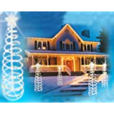 Sienna Multicolored Lighted Outdoor Spiral Christmas Tree Yard Art Decoration, 6'
