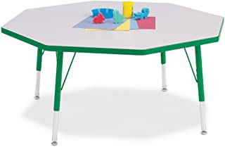 """product image for Jonti-Craft Kydz Activity Table - Octagon Gray/green/48 X 48"""" 24"""" - 31"""""""