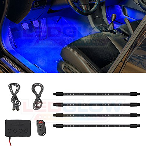 4Pc Blue Led Interior Underdash Lighting Kit in US - 5