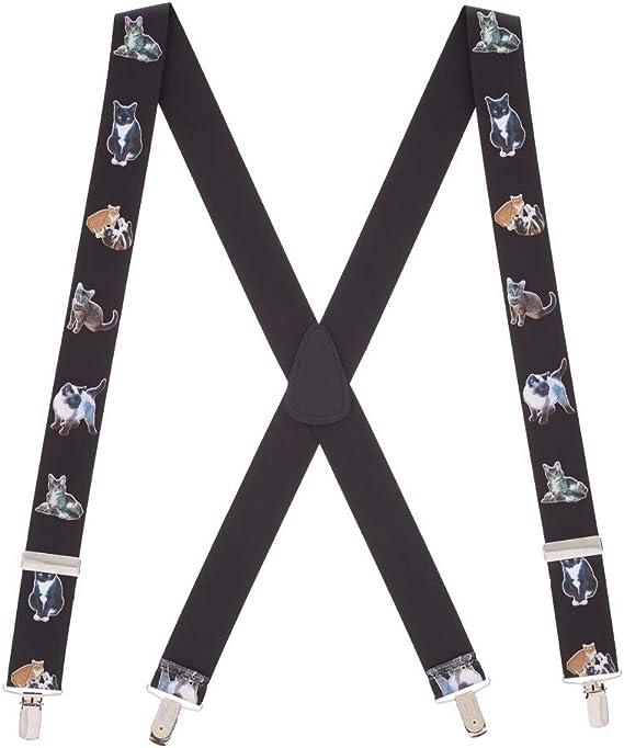 SuspenderStore Mens Say No To Plumbers Crack Clip-End Novelty Suspenders