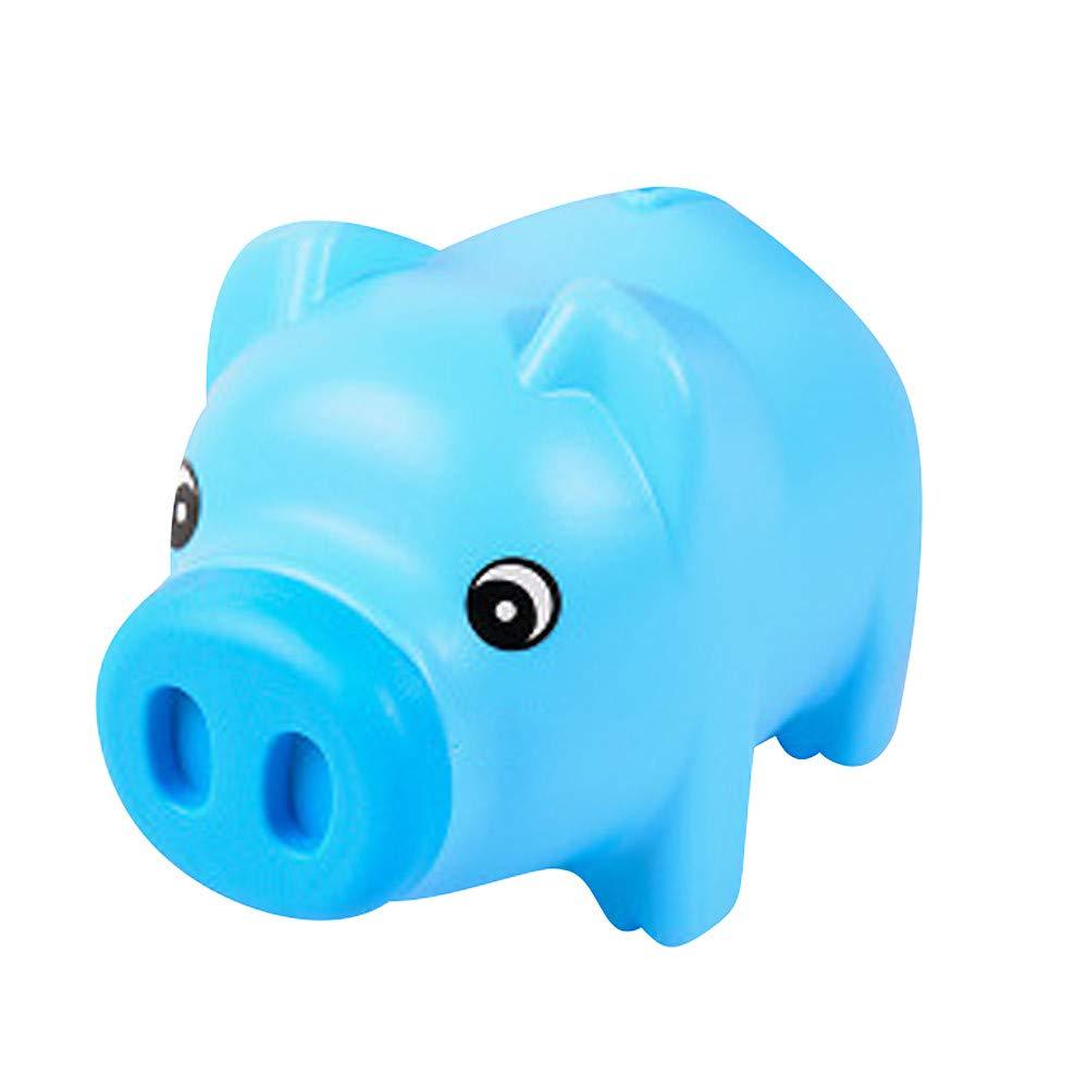 WaiiMak Pig Bank Money Box Saving Coins Cash Fun Gift Plastic Pig Safe Transparent for Kid (Sky Blue)