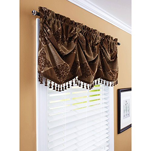 511O65RdRSL - Better Homes And Gardens Boucle 52x36 Tier Curtain