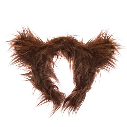Life-like Grizzly Bear Ears Headband Accessory for Grizzly Bear Cosplay, Grizzly Bear Costume, Pretend Animal Play or Zoo Animal Party Costumes
