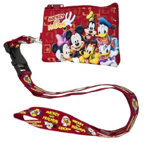 Disney Mickey Mouse and Friends Lanyard with Detachable Coin Purse Children, Kids, Game (Purse Pinata)