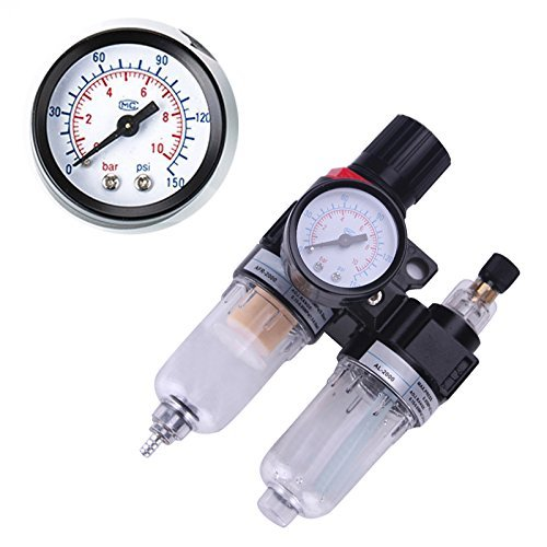 Cheap Scenstar 1/4 Inch Air Compressor Filter Regulator Water Oil Separator Trap Filter Airbrush Com...