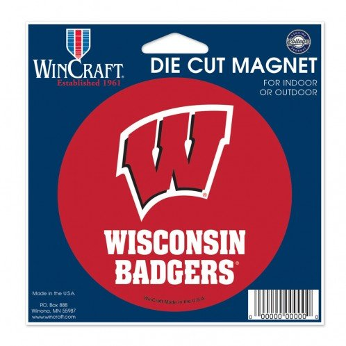 WinCraft Wisconsin Badgers Official NCAA 4.5 inch x 6 inch Car Magnet by 838469 by WinCraft