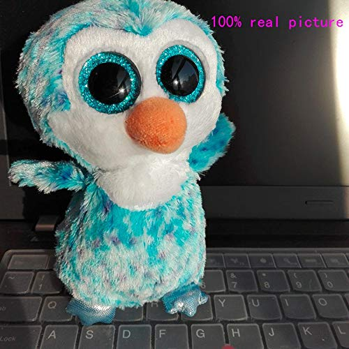 - Ty Beanie Boos - Ty Beanie Boos 1pc 15cm Big Eye Ice Cube Blue Penguin Stuffed Animals Kids Toys Valentine Gift - Ghost Rocky Athena Mouse Mini Raccoon George Fish Chihuahua New
