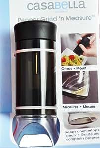 Casabella Pepper Grind N Measure Black