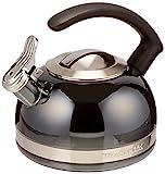 kitchen aid 2 qt tea kettle - KitchenAid KTEN20CBPR 2.0-Quart Kettle with C Handle and Trim Band - Pyrite