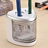 Automatic Electric Pencil Sharpener Dual Hole Operated Handheld Small Travel Reviews