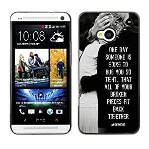 Be Good Phone Accessory // Dura Cáscara cubierta Protectora Caso Carcasa Funda de Protección para HTC One M7 // love heartbreaks family black white