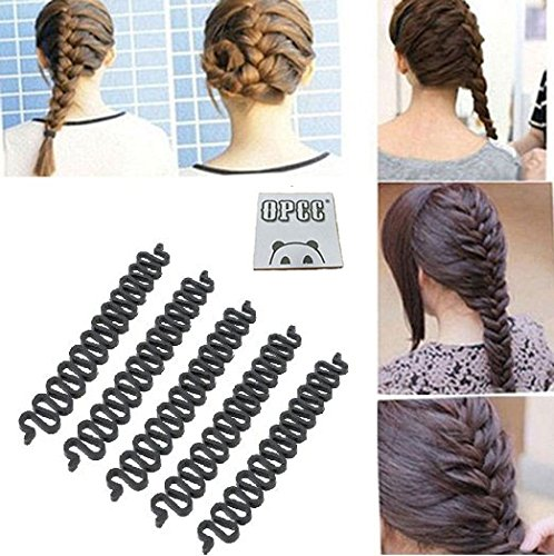 Opcc 5pcs Fashion French Hair Styling Clip Stick Bun Maker Braid Tool Hair Accessories Twist Plait Hair Braiding Tool Amazon In Beauty