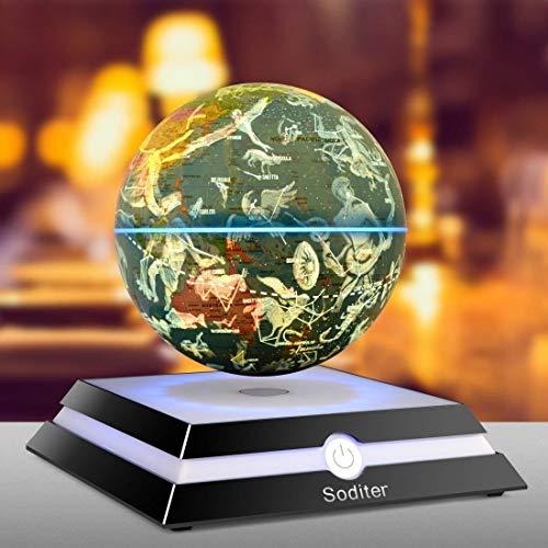 Soditer LED Luminous Levitating Globe 6inch Floating Globes Sitting Room|Office Desktop Decoration|Creativity Holiday (Constellation ()