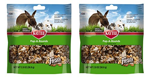 (Kaytee Fiesta Pop-A-Rounds Treat for Small Animals (Rabbits, Guinea Pigs, Chinchillas, Hamsters, Gerbils, Mice and Rats) 2 Count)
