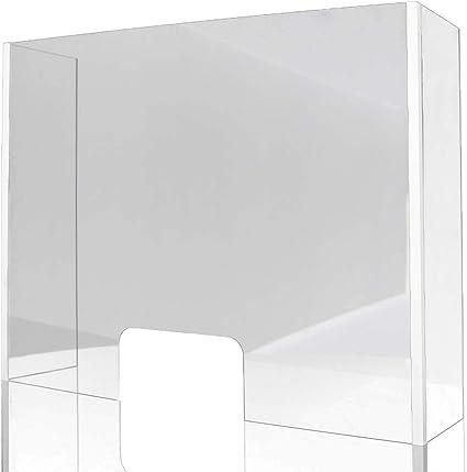 Mampara de Protección | Material Metacrilato | Transparente | Modelo Berlín | Incluye Dos Laterales | Mayor Protección | Automontable | 4 mm de Grosor | 80 x 90 x 30 cm: Amazon.es: Oficina y papelería