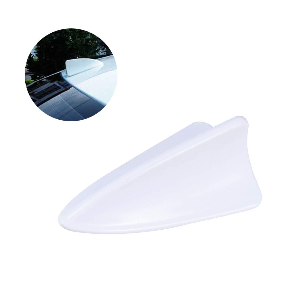 Blanc Vosarea D/écor de Voiture antenne cr/éative nageoire de Requin d/écor a/érien pour Femme Homme Dame
