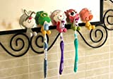 Mansa 5Pcs animal Antibacterial Toothbrush Holders Suction Cup Cover with Suction Cup