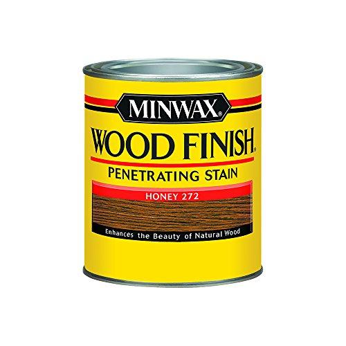 Minwax 700494444 Wood Finish Interior Penetrating Stain, Quart, (Honey Finish Wood)