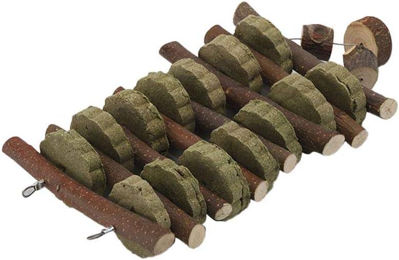 Yunt-11 Bunny Chew Toys para rechinar los Dientes, golosinas de Chinchilla Palitos de bambú orgánico Ramas de Madera de Manzana Natural para Conejos Conejillos de Indias Hámsters, masticables