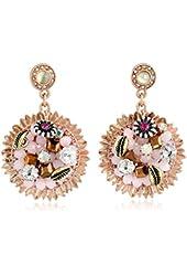 Betsey Johnson Woven Flower Drop Earrings