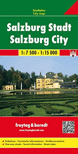 Salzburg Stadt, Stadtplan 1:7.500 - 1:15.000, freytag & berndt Stadtpläne