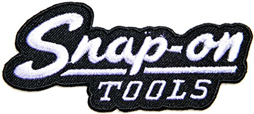 [Snap on Tool Logo Sign Racing Patch Iron on Applique Embroidered T shirt Jacket BY SURAPAN (black)] (Universal Nitro Starter Box)