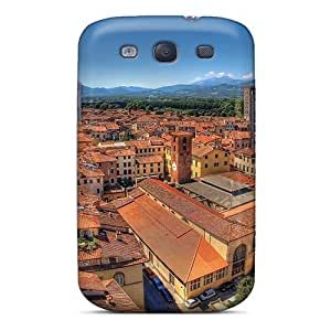 Shock-dirt Proof Superb Roofs In An Italian City Case Cover For Galaxy S3