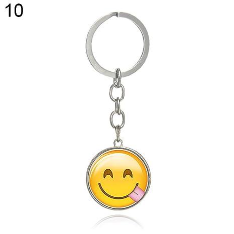 cuiyoush - Llavero con Emoticono de Emoticono para Mujer, 10 ...