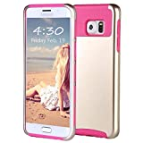 ulak galaxy note edge case - ULAK Cell Phone Case for Samsung Galaxy S6 Edge Plus - Champagne Gold/Hot Pink