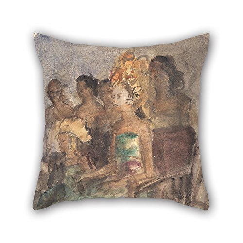 Loveloveu Oil Painting Isaac Israëls - Indonesian Princess Pillow Shams 16 X 16 Inches / 40 By 40 Cm For Dinning Room,bedding,wedding,him,office,couch With Two (Plum Blossom Princess Costume)
