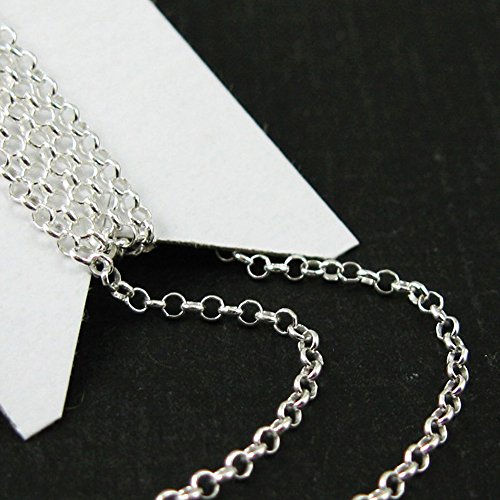 Sterling Silver Chain Rolo Chain - Bulk , Unfinished Chai...