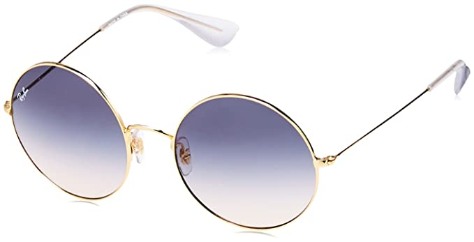7e7817069eb Image Unavailable. Image not available for. Color  Ray-Ban Women s Ja-jo  Round Sunglasses GOLD 55 mm